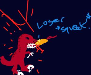 Resplendent Red Raptor Revenges Rude Rat