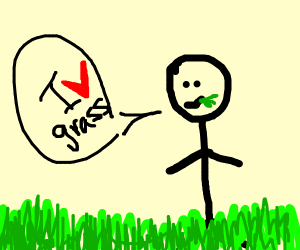 a dude saying that he likes grass