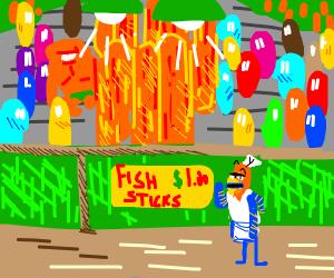 A Fish, Frying Fish