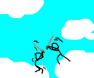 Swordfight on the clouds