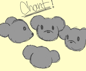 rats chanting in their rat cult