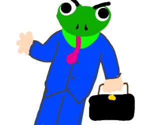 angry amphibian man