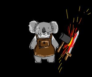 Koala Blacksmith