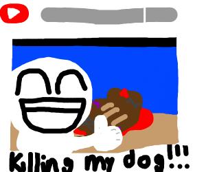 YouTuber tortures dog for views