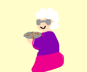 A grandma bringing cookies!!!