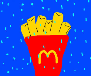 Fries in the rain