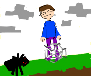 man is trapped in minecraft spiderweb