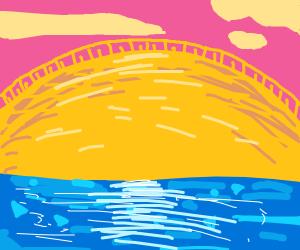 Sunset over Crystal Lake