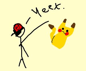 Ash yeets Pikachu into battle
