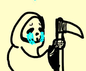 Grim reaper crying