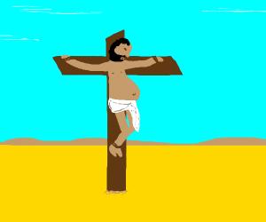 Jesus is somehow pregnant