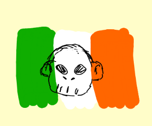 Ireland's flag is now a skull of a monkey