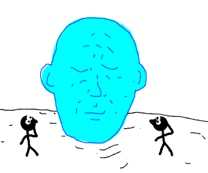 Giant blue head