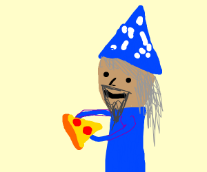 wizard likes pizza