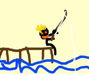 jus fishin