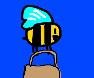Bee going to work
