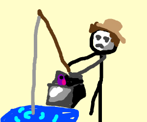 fishing person