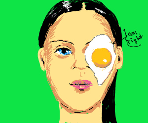 Egg on her face, BUT the egg is RIGHT!