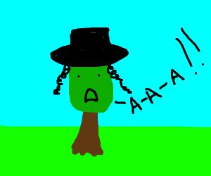Jewish tree screaming aaaaaa