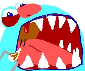 Repairing a monsters teeth
