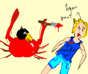 crab w/black bird head murders logan paul