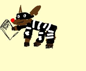 Rudolph robs Blitzen