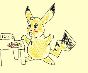 Pikachu having brunch