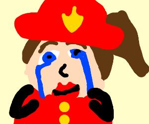 Sad Firefighter