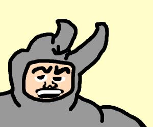 man in rhino costume