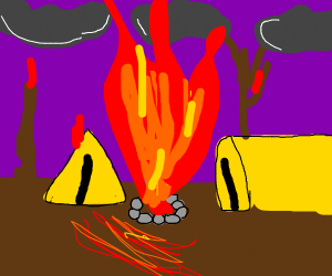 Out-of-control campfire
