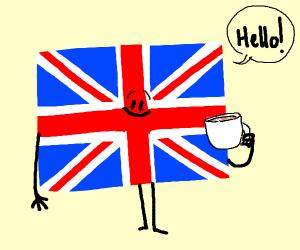 UK drinking tea