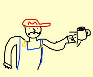 Mario punches Cup
