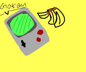 Gameboy wants donkey kong's bananas