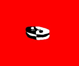 yin yang oreo cookie