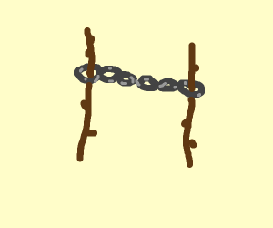 chains on two sticks?
