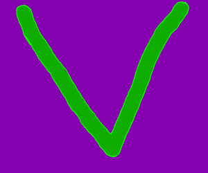 Big green V