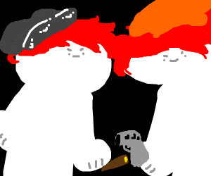 2 Red-Haired and Beanied-Gangstahs