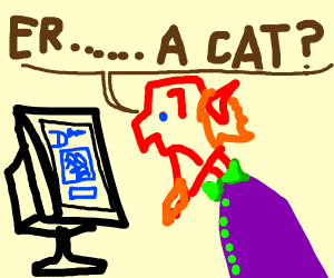 "Someone guessing ""Cat"" on drawception page"