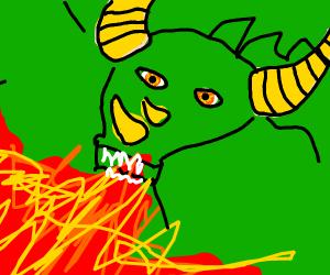 close up of a dragon