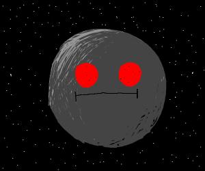 moon but it has peporoni eyes