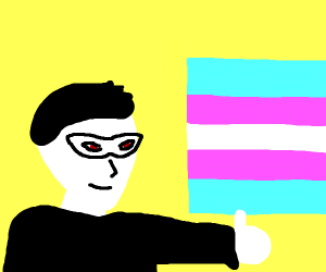 Joker of P5 fights for trans rights