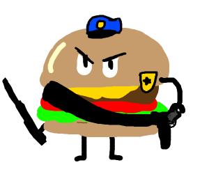 Burger boy cop