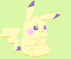 angry pastel pikachu