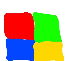 Microsoft logo but it's the new smash