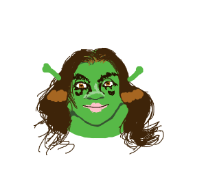 Shrek with some hair