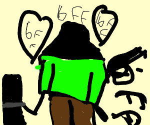 computer makes friends with man