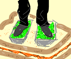 Foot Lettuce On PB Sandwich