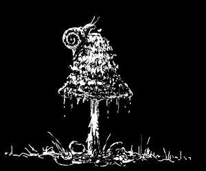 Snail climbs a tree