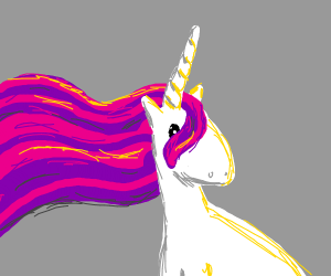 Unicorn with Purple and Pink Mane