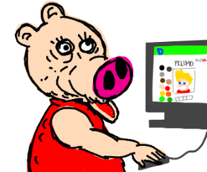 Peppa pig plays drawception
